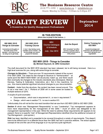 09 Quality Review September 2014 (Image)