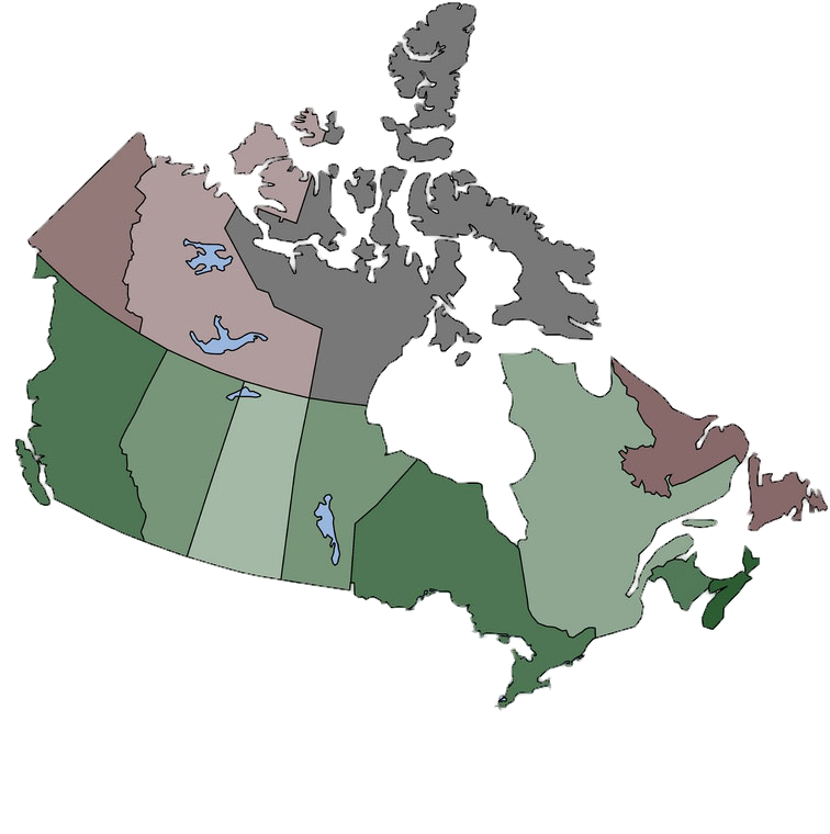 Map of Canada - Extended Bottom - No Background